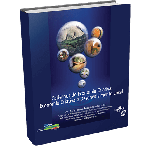 Project coordination for Sebrae ES, culminating with the International Seminar on Creative Economy and the publication 'Cadernos de Economia Criativa e Desenvolvimento Local'.