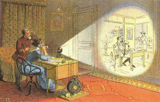 Prototype of Skype imagined in 1912. In 2012 the picture phone would be a modern way of communicating with other continents.